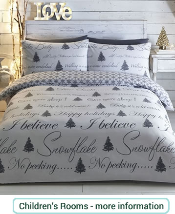 Grey and white Christmas bedding