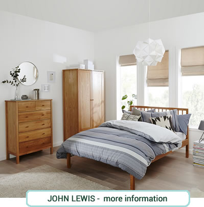Oak bedroom furniture  double bed, wardrobe and chest.