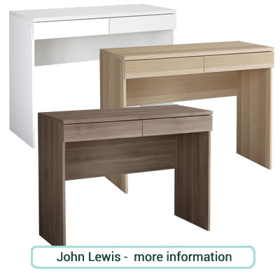 Basic, child's desk or dressing table with large drawer.