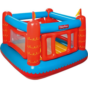 Fisher Price, toddler sized bouncy castle. Blue and Red.