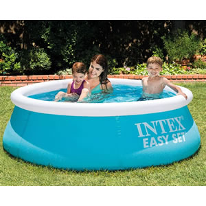 Intex Easy Set Pool in blue and white. 6ft wide 20 inch deep.