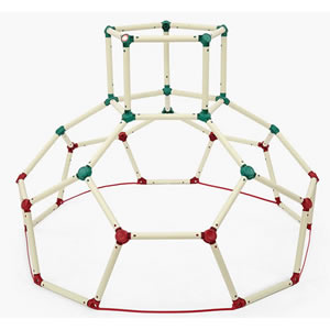Monkey Dome climbing frame. Strong and stable interlocking tubes.