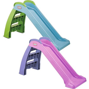 Kids first slide in pink or blue moulded plastic